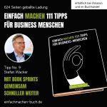 EINFACH MACHEN Tipp No. 9   Stepfan Wacker - Mit Book Sprints gemeinsam schneller weiter