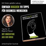 EINFACH MACHEN Tipp No. 37 | Mit Innovationen aus der Krise, Begonia Merayo